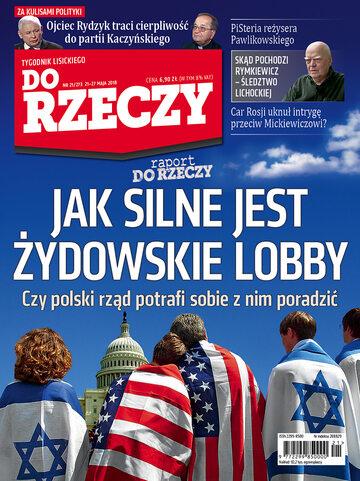 """Okładka tygodnika """"Do Rzeczy"""", wydanie nr 21/2018 (273)"""