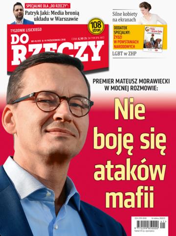"""Okładka tygodnika """"Do Rzeczy"""", wydanie nr 41/2018 (293)"""