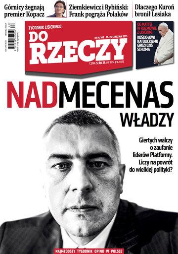 """Okładka tygodnika """"Do Rzeczy"""", wydanie nr 4/2015 (103)"""
