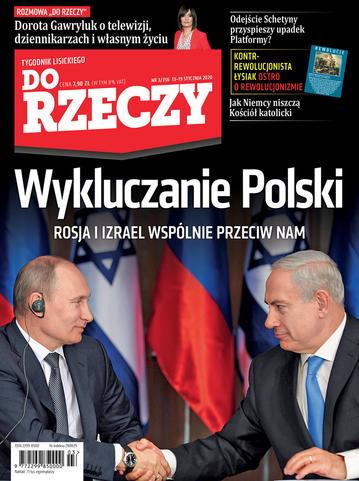 """Okładka tygodnika """"Do Rzeczy"""", wydanie nr 3/2020 (356)"""