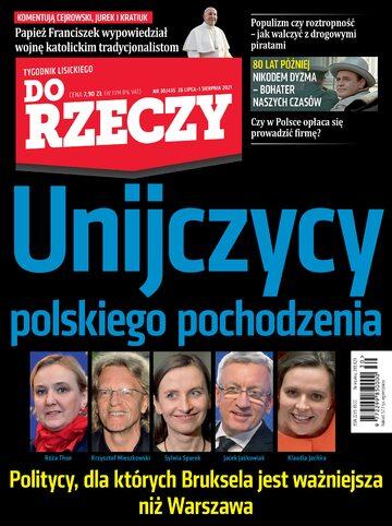 """Okładka tygodnika """"Do Rzeczy"""", wydanie nr 30/2021 (435)"""