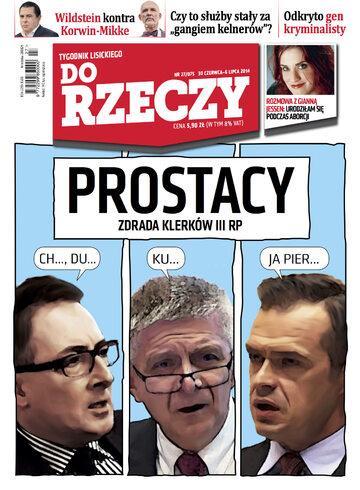 """Okładka tygodnika """"Do Rzeczy"""", wydanie nr 27/2014 (75)"""