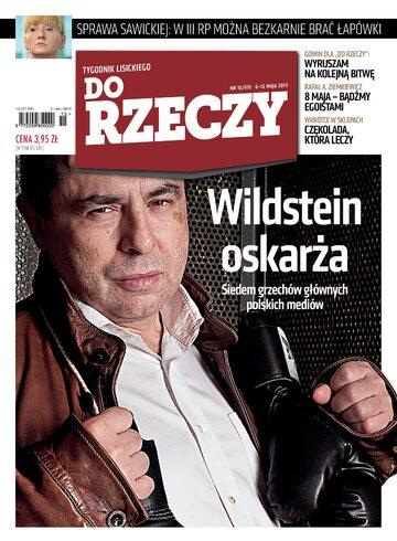 """Okładka tygodnika """"Do Rzeczy"""", wydanie nr 15/2013 (15)"""