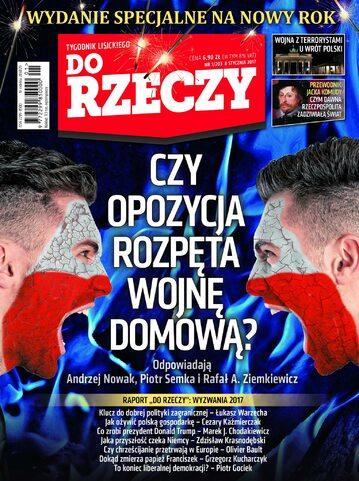 """Okładka tygodnika """"Do Rzeczy"""", wydanie nr 1/2017 (203)"""