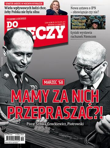 """Okładka tygodnika """"Do Rzeczy"""", wydanie nr 10/2018 (263)"""