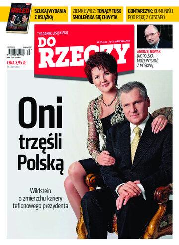 """Okładka tygodnika """"Do Rzeczy"""", wydanie nr 35/2013 (35)"""