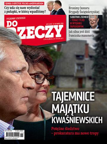 """Okładka tygodnika """"Do Rzeczy"""", wydanie nr 11/2018 (264)"""