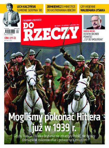 """Okładka tygodnika """"Do Rzeczy"""", wydanie nr 31/2013 (31)"""