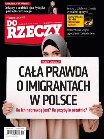 """Okładka tygodnika """"Do Rzeczy"""", wydanie nr 50/2018 (302)"""