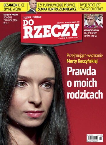 """Okładka tygodnika """"Do Rzeczy"""", wydanie nr 22/2014 (70)"""