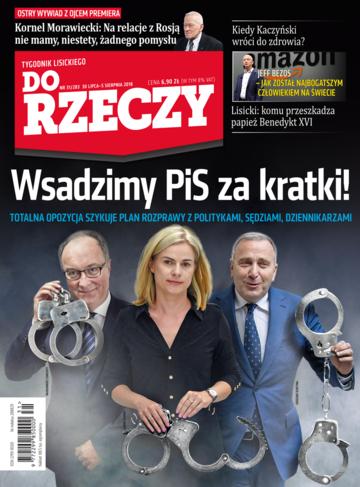 """Okładka tygodnika """"Do Rzeczy"""", wydanie nr 31/2018 (283)"""