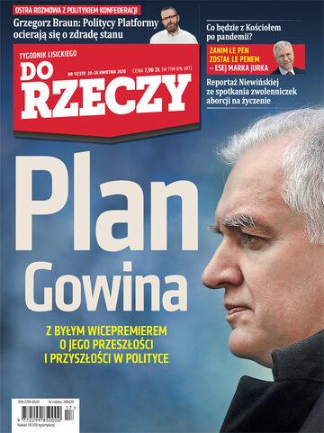 """Okładka tygodnika """"Do Rzeczy"""", wydanie nr 17/2020 (370)"""