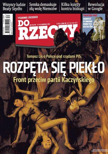 """Okładka tygodnika """"Do Rzeczy"""", wydanie nr 34/2015 (133)"""