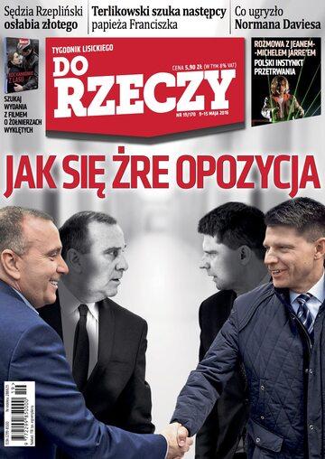 """Okładka tygodnika """"Do Rzeczy"""", wydanie nr 19/2016 (170)"""