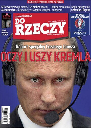 """Okładka tygodnika """"Do Rzeczy"""", wydanie nr 23/2016 (174)"""