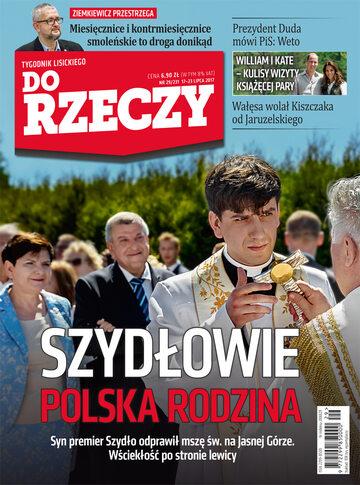 """Okładka tygodnika """"Do Rzeczy"""", wydanie nr 29/2017 (231)"""