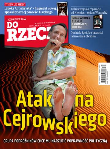 """Okładka tygodnika """"Do Rzeczy"""", wydanie nr 39/2018 (291)"""
