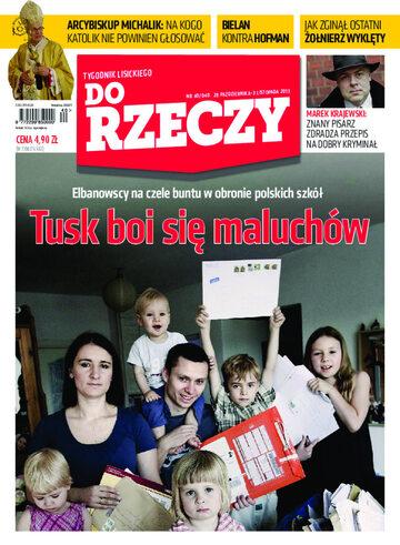 """Okładka tygodnika """"Do Rzeczy"""", wydanie nr 40/2013 (40)"""