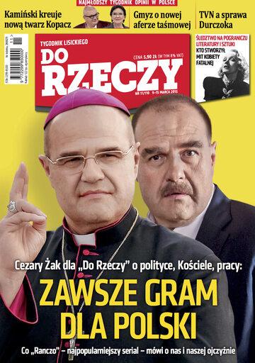 """Okładka tygodnika """"Do Rzeczy"""", wydanie nr 11/2015 (110)"""