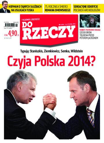 """Okładka tygodnika """"Do Rzeczy"""", wydanie nr 1/2014 (49)"""