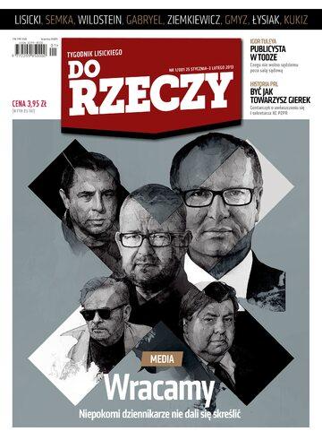 """Okładka tygodnika """"Do Rzeczy"""", wydanie nr 1/2013 (1)"""