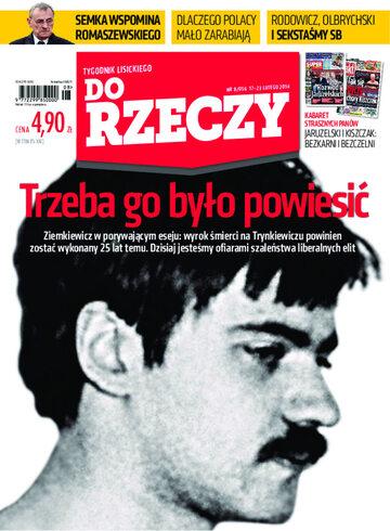 """Okładka tygodnika """"Do Rzeczy"""", wydanie nr 8/2014 (56)"""