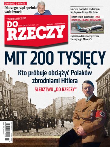 """Okładka tygodnika """"Do Rzeczy"""", wydanie nr 14/2019 (317)"""