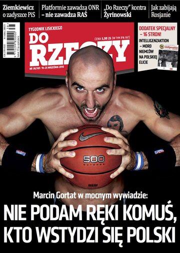 """Okładka tygodnika """"Do Rzeczy"""", wydanie nr 38/2016 (189)"""