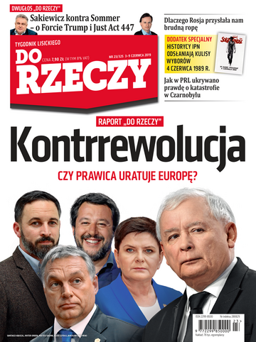 """Okładka tygodnika """"Do Rzeczy"""", wydanie nr 23/2019 (325)"""