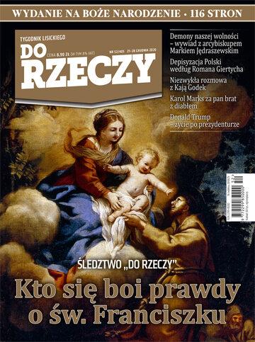 """Okładka tygodnika """"Do Rzeczy"""", wydanie nr 52/2020 (405)"""