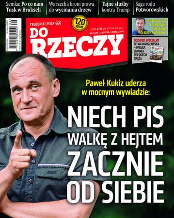 """Okładka tygodnika """"Do Rzeczy"""", wydanie nr 9/2017 (211)"""
