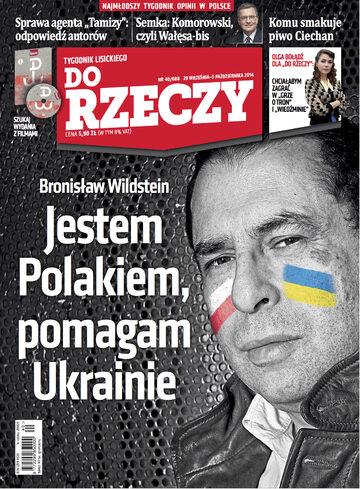 """Okładka tygodnika """"Do Rzeczy"""", wydanie nr 40/2014 (88)"""