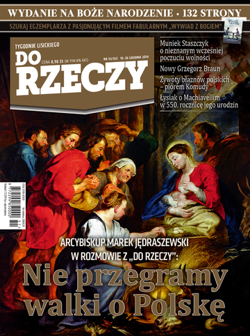 """Okładka tygodnika """"Do Rzeczy"""", wydanie nr 51/2019 (353)"""