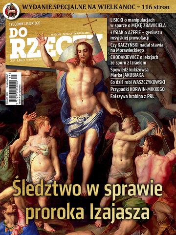 """Okładka tygodnika """"Do Rzeczy"""", wydanie nr 13/2018 (266)"""