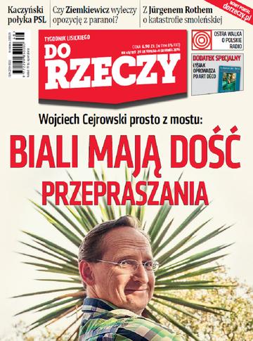 """Okładka tygodnika """"Do Rzeczy"""", wydanie nr 48/2016 (199)"""