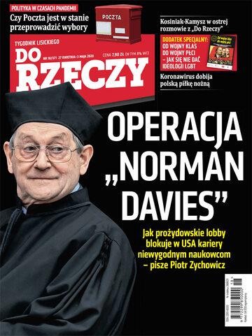 """Okładka tygodnika """"Do Rzeczy"""", wydanie nr 18/2020 (371)"""