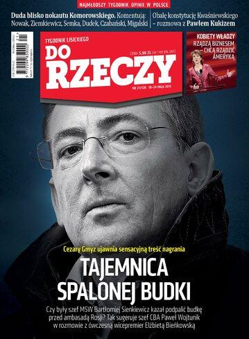 """Okładka tygodnika """"Do Rzeczy"""", wydanie nr 21/2015 (120)"""