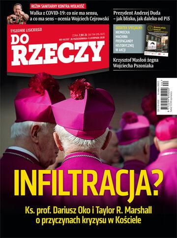 """Okładka tygodnika """"Do Rzeczy"""", wydanie nr 44/2020 (397)"""