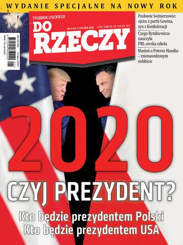"""Okładka tygodnika """"Do Rzeczy"""", wydanie nr 1/2020 (354)"""