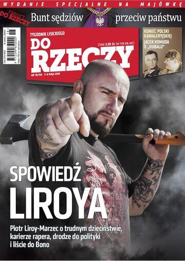 """Okładka tygodnika """"Do Rzeczy"""", wydanie nr 18/2016 (169)"""