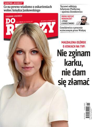 """Okładka tygodnika """"Do Rzeczy"""", wydanie nr 11/2019 (314)"""