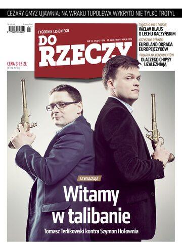 """Okładka tygodnika """"Do Rzeczy"""", wydanie nr 13-14/2013 (13)"""