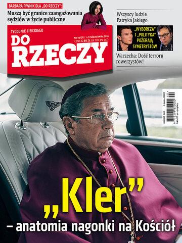 """Okładka tygodnika """"Do Rzeczy"""", wydanie nr 40/2018 (292)"""