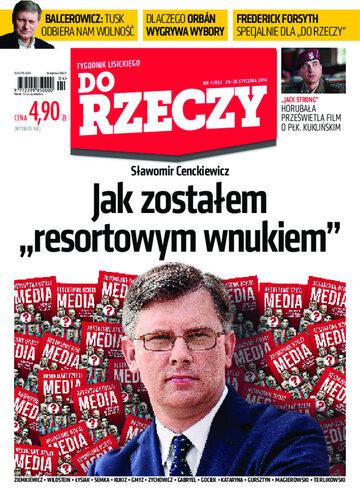 """Okładka tygodnika """"Do Rzeczy"""", wydanie nr 4/2014 (52)"""