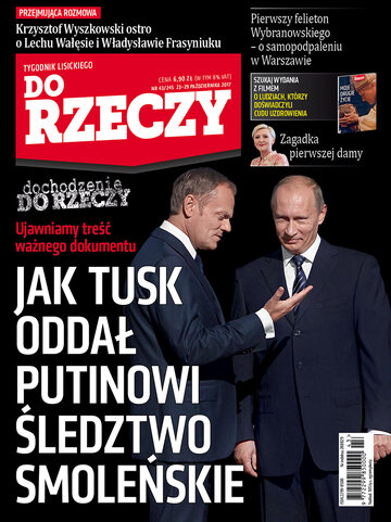 """Okładka tygodnika """"Do Rzeczy"""", wydanie nr 43/2017 (245)"""