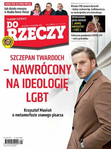 """Okładka tygodnika """"Do Rzeczy"""", wydanie nr 35/2020 (388)"""