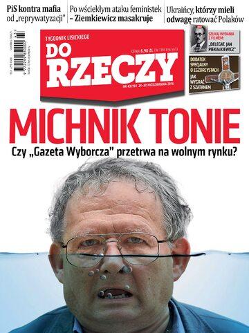 """Okładka tygodnika """"Do Rzeczy"""", wydanie nr 43/2016 (194)"""