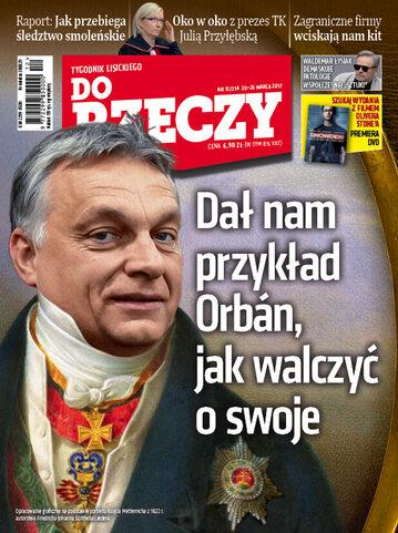 """Okładka tygodnika """"Do Rzeczy"""", wydanie nr 12/2017 (214)"""