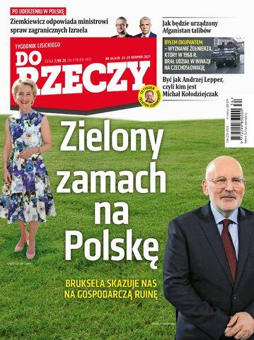 """Okładka tygodnika """"Do Rzeczy"""", wydanie nr 34/2021 (439)"""
