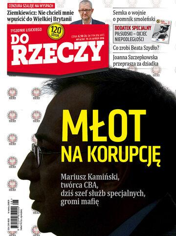 """Okładka tygodnika """"Do Rzeczy"""", wydanie nr 8/2018 (261)"""